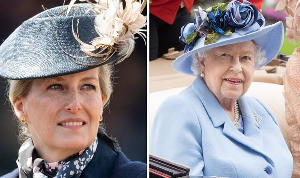 Sophie Countess of Wessex and Queen Elizabeth II Image Getty