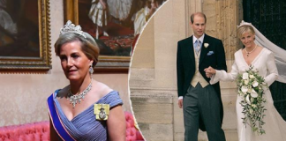 Sophies stunning state banquet look included a sneaky throwback to her wedding day back in