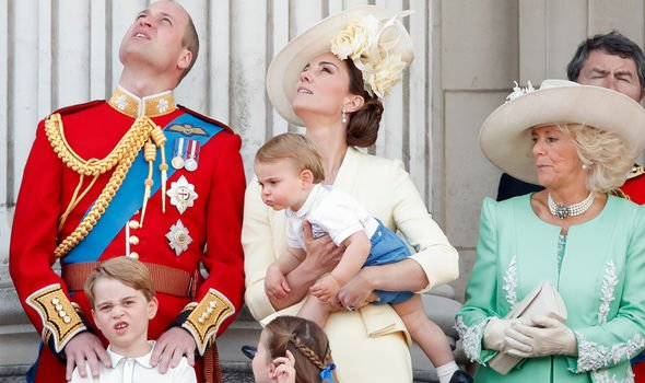 The Cambridge family also stepped out to mark Trooping the Colour Image GETTY