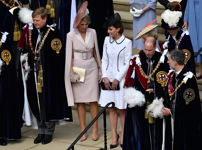 The Duke and Duchess were on their way to Windsor to attend the Order of the Garter service Photo C GETTY IMAGES
