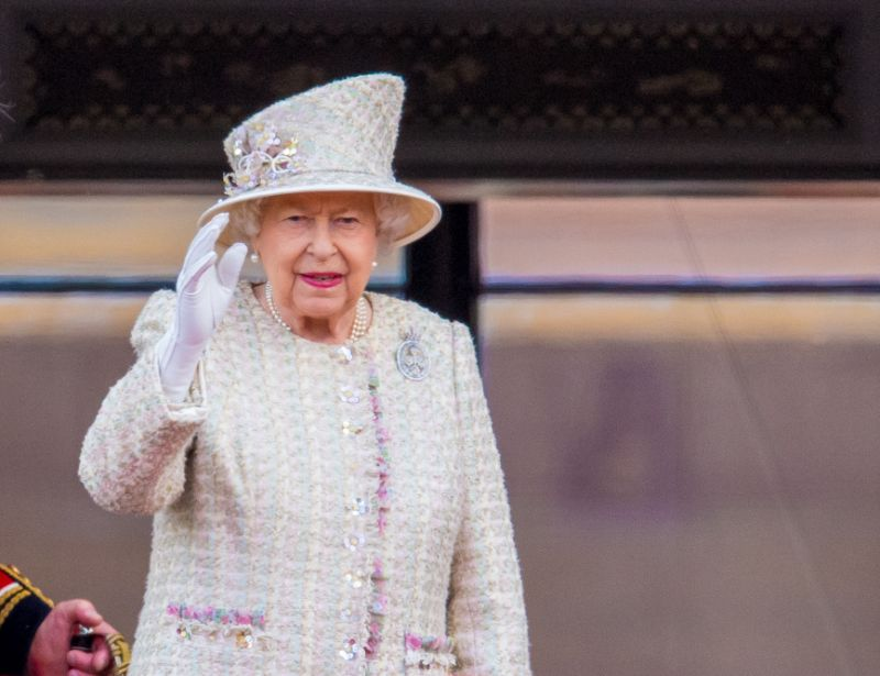 The Queen at Trooping the Colour Photo PA