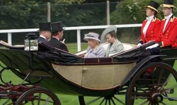 The Queen is said to enjoy the horse races the most out of all royal engagements Image ITV