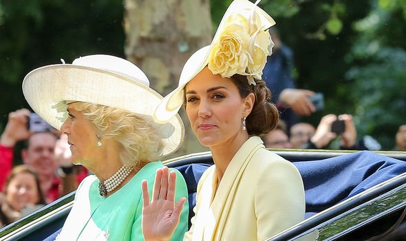 The Queen recommended her favourite pills to Kate for the occasion Image GETTY