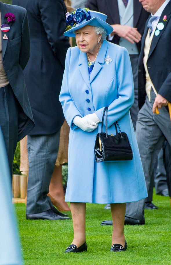 The Queen was resplendent in a blue Angela Kelly outfit Image SIPA USA via PA