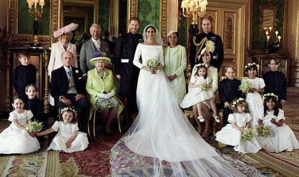 The Queen wore the same outfit to Harry and Meghans wedding Image GETTY