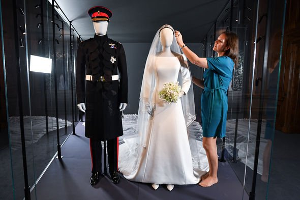 The exhibition also features footage of the bride and groom being interviewed before their wedding Image GETTY