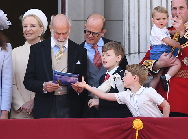 The five year old joined other royals on the balcony Photo C Getty Images