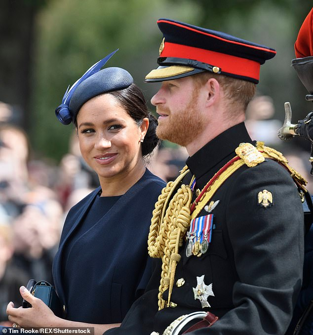 The new band was spotted at Trooping the Colour earlier this month
