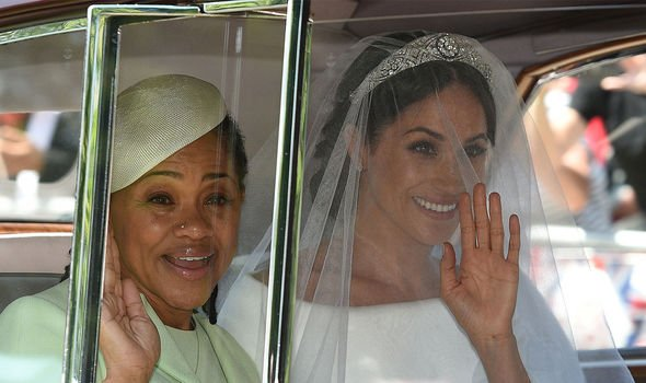 The only family member from Meghans side to attend the royal wedding was her mother Doria Ragland Image GETTY