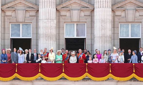 The royal family at Trooping the Colour Image GETTY