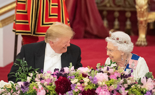 The state banquet was held in honour of President Trump Photo C Getty Images