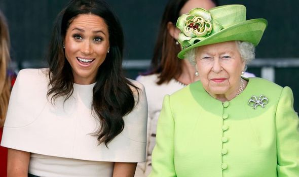 The trip saw saw Her Majesty and the newly married Meghan visit Cheshire Image GETTY