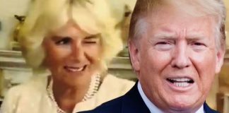 Trump UK visit Camilla becomes viral sensation after reaction to US president Image GETTY ITV