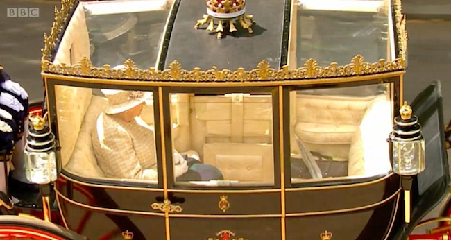Viewers got a peek inside the Queens carriage Image BBC