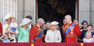cropped Royals appearing at Trooping The Colour the Queens annual birthday parade Image GETTY