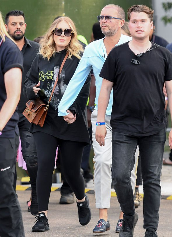 Adele was photographed at the British Summer Time festival Image Getty Images