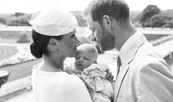 Archie's christening was a private affair Image GETTY