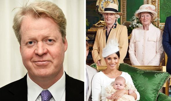 Archie Christening photos Why was Princess Diana's brother NOT in family photo Image GETTY