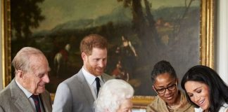 Archie Harrison Christening Doria was in the UK in May supporting Meghan Image PA