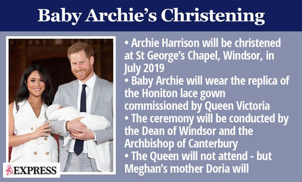Archie Harrison is expected to be christened this coming weekend Image GETTY
