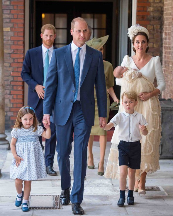 Archie christening The Cambridge family at Prince Louiss christening Image Getty