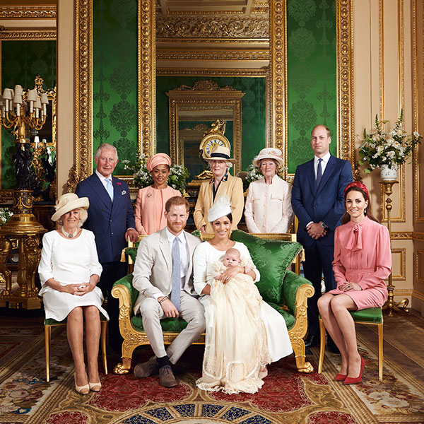 Archie was christened on Saturday Photo C GETTY IMAGES