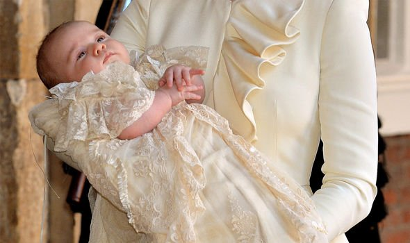 Archies christening Prince George wore the replica gown in Image GETTY