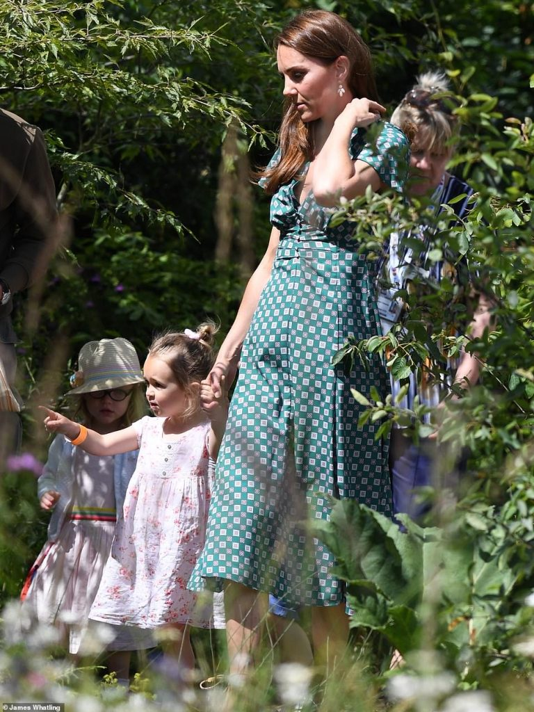 Back to nature The Duchess of Cambridge took one little girls hand Photo C Getty Images