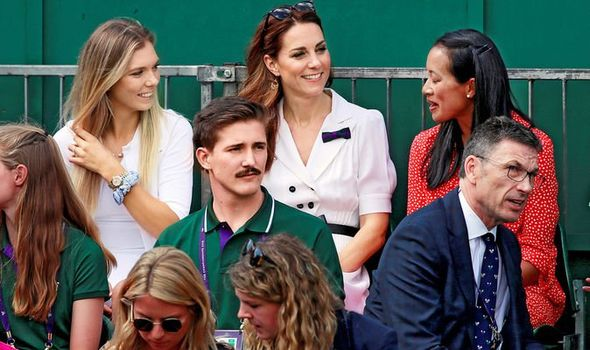 Catherine Duchess of Cambridge sits with Anne Keothavong and Katie Boulter Image REUTERS Andrew Couldridge