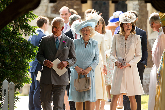Charles donned the same flower to Charlottes christening in Image Getty