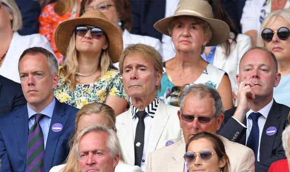 Cliff Richard was also in the crowds on Sunday afternoon Image PA