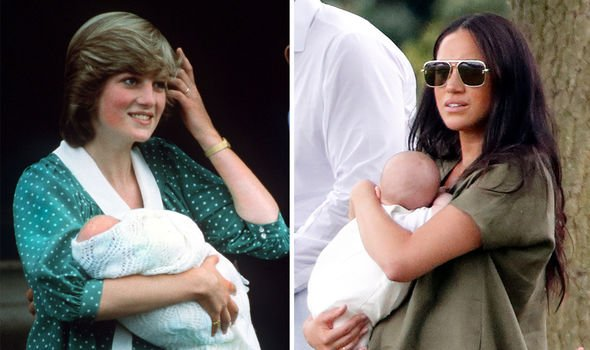 Diana and Meghan with their babies Image GETTY