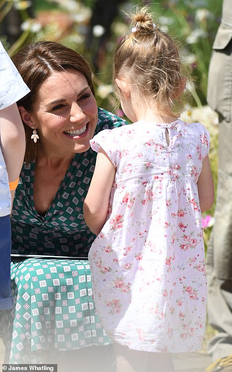 Give us a wave The Duchess of Cambridge appeared in excellent spirits and waved to well wishers Photo C James Whattling