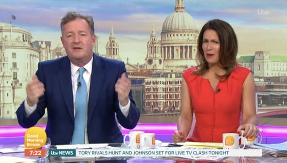 ITV GMB Piers ranted about the Royal christening not being a public event Image ITV