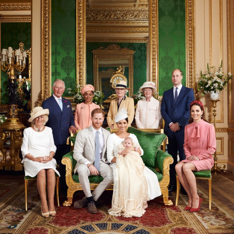 It is believed he was one of less than guests to attend the eight week olds christening at Windsor Castle yesterday Image Chris Allerton Sussex Royal