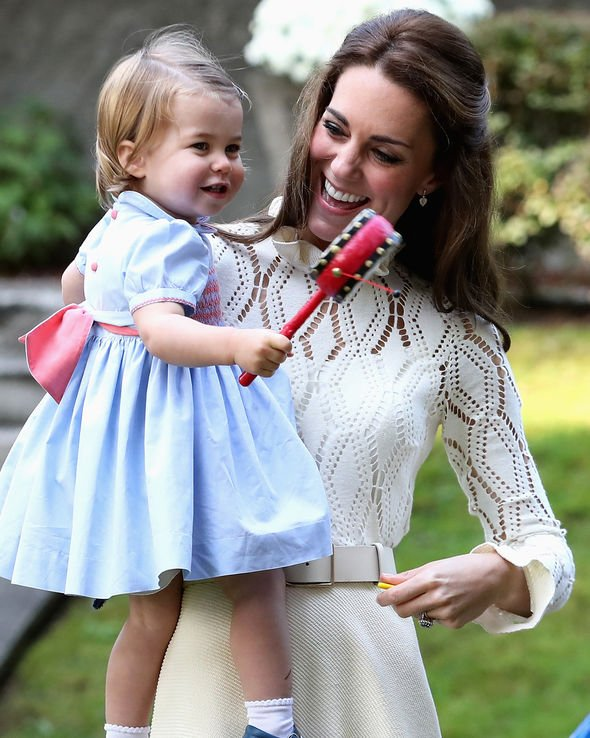 Kate Middleton Although Kate does not enjoy doing the same thing as Charlotte she encourages it Image GETTY
