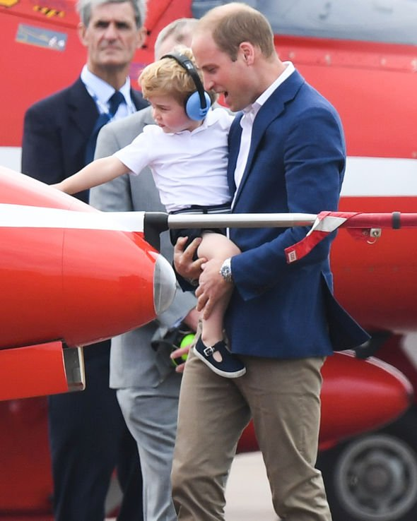 Kate Middleton Prince George reportedly loves planes so this is something Kate encourages Image GETTY
