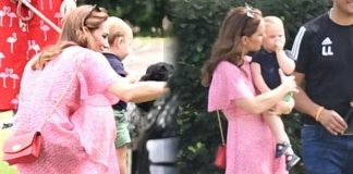 Kate Middleton The Duchess of Cambridge attended the polo with her children today Image SplashNews