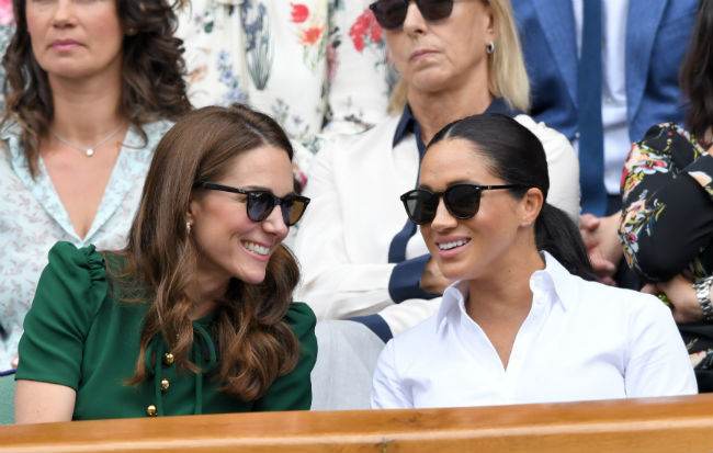 Kate Middleton and Meghan Markle made a joint appearance at Wimbledon on Saturday Photo C GETTY IMAGES