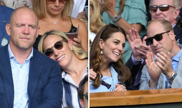 Kate Middleton body language Kate Middleton and Prince William and Zara and Mike Tindall Image GETTY