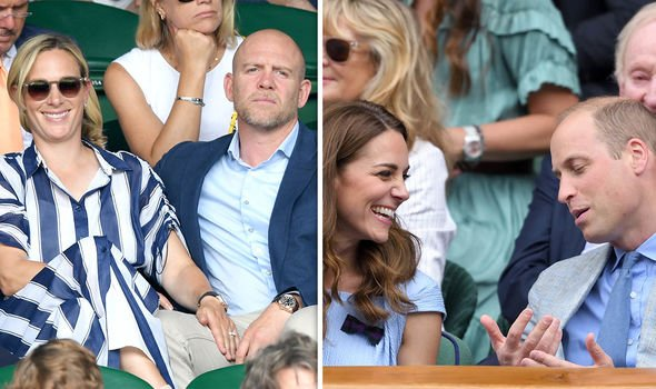Kate Middleton body language The royal couples getting cosy at Wimbledon Image KARWAI TANG GETTY