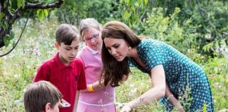Kate Middleton created a garden at Hampton Court Palace Image PA