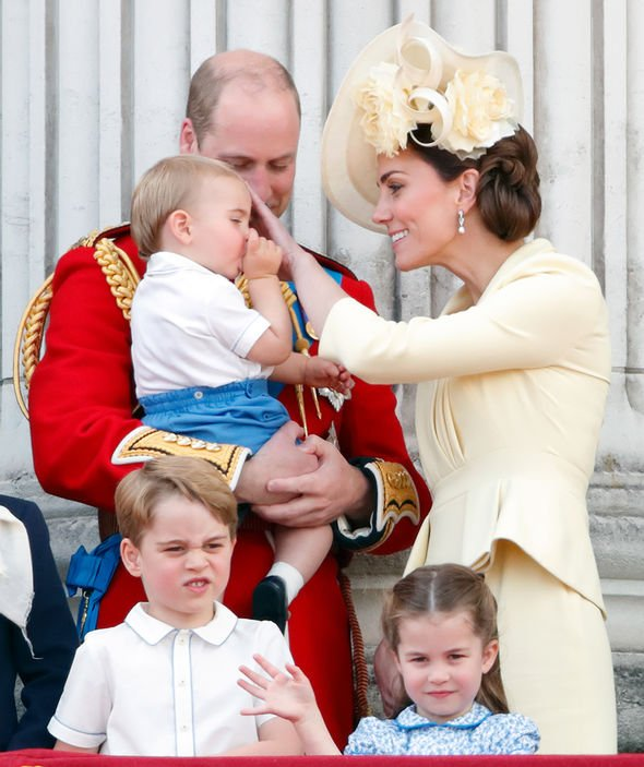 Kate Middleton pregnancy Kate cooed over Louis at Trooping the Colour Image GETTY