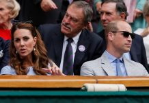 Kate and William sat in the Royal Box as they watched the game Image PA