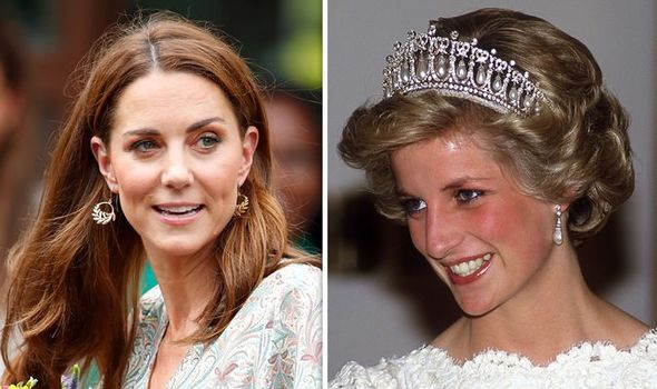 Kate has often paid special tribute to Diana with her outfits Image GETTY