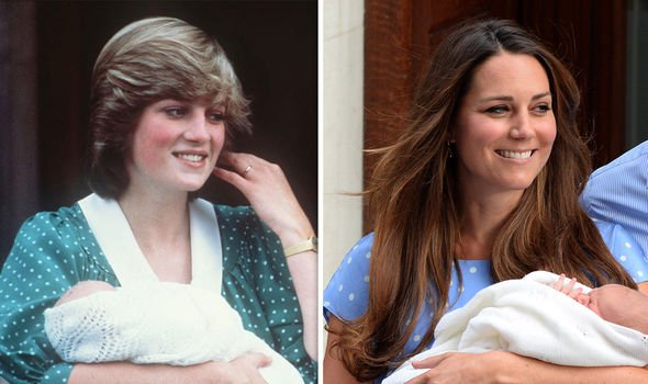 Kate sported a polka dot dress when she welcomed baby George as Diana had with William Image GETTY