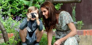 Kate was in a photography workshop with children from one of the charities she represents Image GETTY