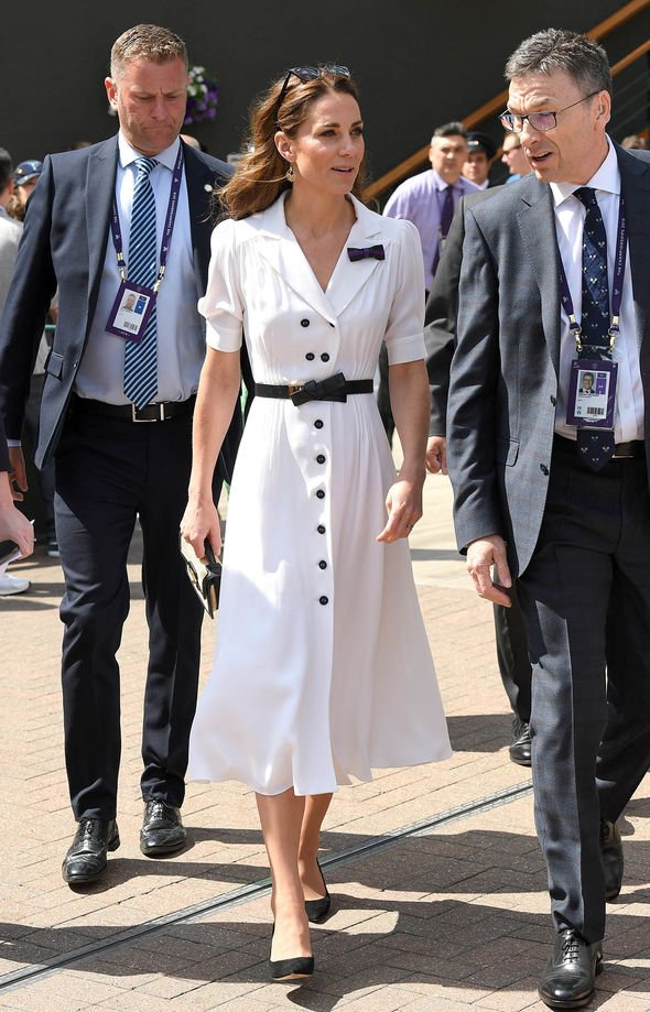 Kates outfit chosen for the second day of Wimbledon Image GETTY