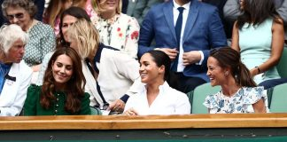 Ladies day out Kate Meghan and Pippa were all taking a break from parenting duties today to enjoy an afternoon of sporting action at Wimbledon
