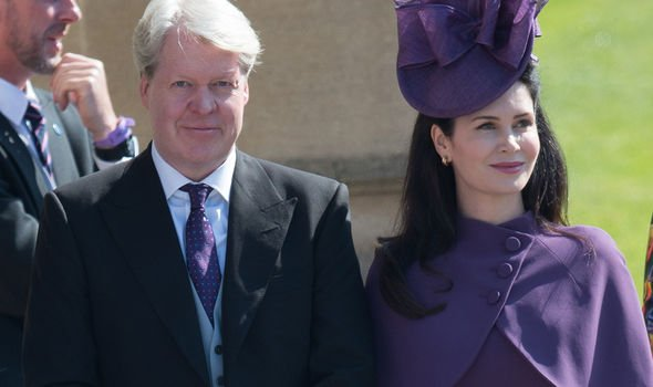 Lord Spencer and his wife at Meghan and Harrys wedding Image GETTY